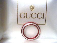 AUTHENTIC GUCCI RED DIAMOND CUT BEZEL FOR BANGLE WATCH MODEL 1100L 1200L 11/12