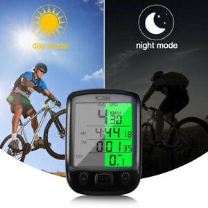 Waterproof Digital LCD Cycle Bicycle Bike Computer Odometer Speedometer Cycling@