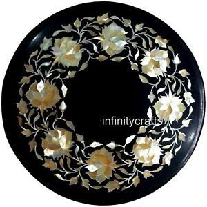 Marble Stone End Table Top with Pietra Dura Art Coffee Table Size 09 x 09 Inches