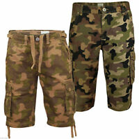 """Mens Army Cargo Camo Combat Shorts 2 Pack Camouflage Work Trousers 28-32"""""""