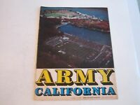 1968 ARMY VS CALIFORNIA COLLEGE FOOTBALL PROGRAM - SEE PICS - BOX C