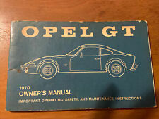 1970 Opel Gt Owners Manual - Rare