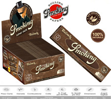 Cartine Smoking Brown King Size Slim Lunghe 25 / 50 Libretti Da 33 Fogli