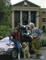 MICHAEL J FOX CHRISTOPHER LLOYD SIGNED BACK TO THE FUTURE 11X14 PHOTO BAS COA