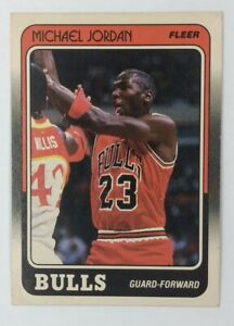 1988 88-89 Fleer Michael Jordan #17 Chicago Bulls, See Pics for Condition*