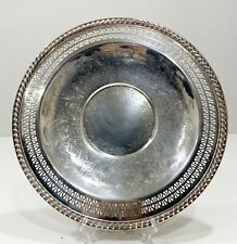 """Vintage International Silver Company Handcrafted Serving Tray Plate 12"""" USA"""