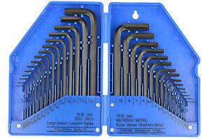 Llaves Allen Hexagonales Medidas Pulgadas y Metricas - Bgs Kraftmann 810