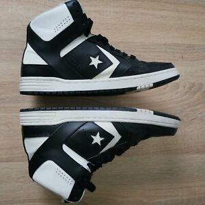 Converse Weapon Mid Top Larry Bird Shoes  Black White 144545C Mens Size-10