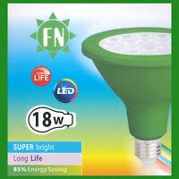 2x 18W PAR38 Green Coloured LED Flood Reflector ES E27 Light Bulb Lamp