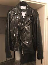 Dsquared Masterpiece Biker Lederjacke Leather Jacket Blazer 52 UVP1490€ Schwarz
