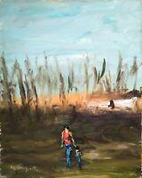 Quadro dipinto olio su tela - 1975 Raf Tempesta - Madre e figlio (Raro)