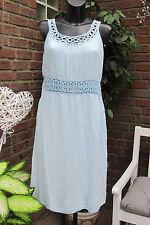 été robe à bretelles IBIZA bleu crochet paillettes extra-large Mignon 40-42-44
