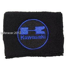 KAWASAKI RESERVOIR SOCKS BRAKE FLUID OIL TANK CUP COVER ZX 6 7 10 14 BLACK&BLUE