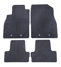 2011-2015 Chevrolet Volt Premium Black All Weather Floor Mats Front & Rear OEM