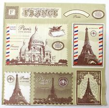 Lot 20 Mouchoirs Serviette Papier Souvenir Paris France Tour Eiffel 17,5 cm C