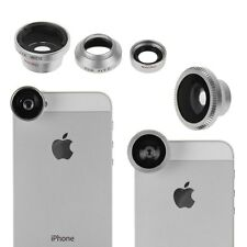 3in1 180° Fisheye Lens + Wide Angle + Micro Lens for iPhone 5 5G 4S iPod Camera