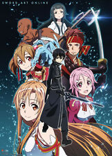 **Legit Poster* Sword Art Online Anime Yui Kirito Asuna Group Wallscroll #60062
