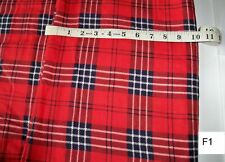 3 yards Red White Blue Cotton Flannel Soft Fabric New Old Stock F1a