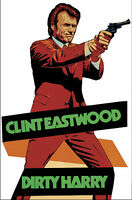 DIRTY HARRY large fridge magnet - EASTWOOD CLASSIC!