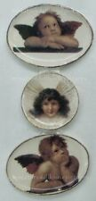 Miniature Dollhouse Set of 3 Cherubs Angel Plates 1:12 Scale New