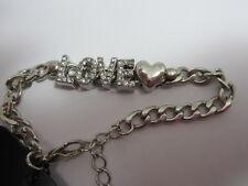 Crystal Love Chain  Bracelet