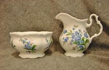 Royal Albert Bone China FORGET ME NOT Mini Creamer & Open Sugar Bowl