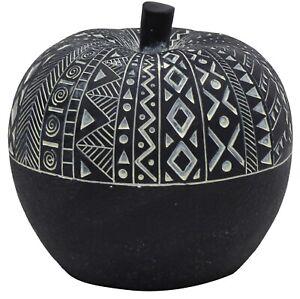 13cm Decorative Fruit Black & White Apple Large Apple Home Decor