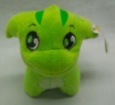 "McDonald's Neopets Green Poogle Keychain Clip 3"" Plush Stuffed Animal Toy New"