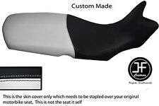WHITE AND BLACK AUTOMOTIVE VINYL CUSTOM FITS BMW F 650 GS 08-12 SEAT COVER ONLY