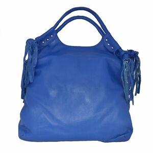 Women's Genuine Leather Extra Large Handbag  Bag  Blue or Black