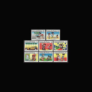Dominica, Sc #1208-15, MNH, 1989, Disney, Mickey Mouse Hollywood Star, FRFD-A