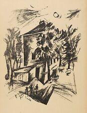 ERNST FRITSCH - HAUS VOR DER SONNE - Lithografie 1919