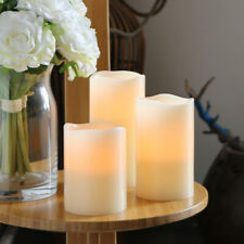 3pcs Flameless LED Candles Light with Remote Timer LED Pillar Candles Decoration