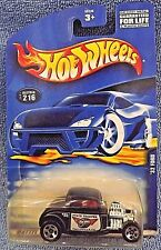 2001 Hot Wheels Collector No #216 '32 FORD Black w/5sp Talluville State Trooper