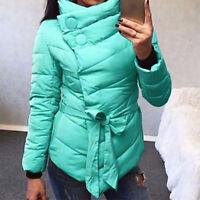 Fall Winter Stylish Women Down Polyester Jacket Hood Coat Long Thicken Overcoat