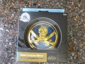 Disney Store Pirates of Caribbean Compact Mirror Dead Men Tell No Tales NEW