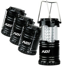 4 Pack Portable Outdoor LED Camping Lantern + 12 AA Batteries Black ND-001 OZ