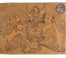 GB ROYALTY Cover HAND-ILLUSTRATED Coat of Arms 1900 Birmingham CDS 1d Ap610