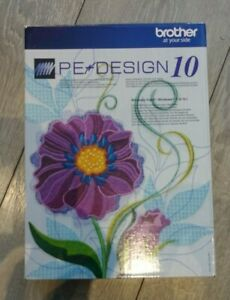 Brother PE Design 10 (full version) Embroidery Software Cost £400 boxed & keys