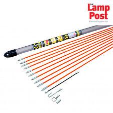 CK Tools T5410 électrique d'accès Cable Rod Set 10 m Crochet œil Filetage Adaptateur