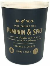 M. of W.G. Makers of Wax Goods 8.7oz. Halloween Fall Candle - Pumpkin & Spice