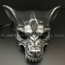 Halloween Black Silver Wolf Animal Costume Burlesque Masquerade Party Mask