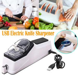 USB Electric Knife Sharpener Adjustable Kitchen Knives Scissor Sharpening Tool