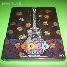 COCO DISNEY PIXAR BLU-RAY + BLU-RAY EXTRAS NUEVO Y PRECINTADO EDICION STEELBOOK