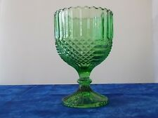 """AHC82 Anchor Hocking Wintergreen Chalice 6 1/8"""" Green Antique Heavy Glass"""