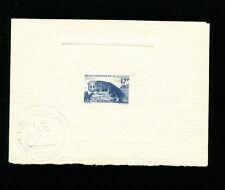 St. Pierre & Miguelon 1952 Silver Fox Mammal Sc344 Early Sunken Die Artist Proof