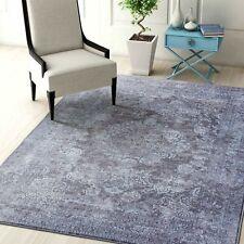 Large Aqua Blue Silver Grey Distressed Oriental Persian Lounges Carpet 200x290cm