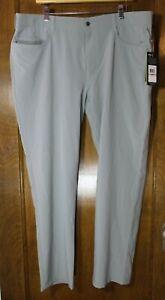 NEW Callaway Men's 40x30 Performance Flat Front Five Pocket Golf Pants GRAY NWT