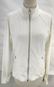 Athleta Jacket Full Zip White Running See Through Vented Back Women's Sz Small