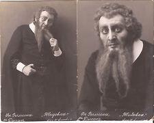 "2 pc Ignacy DYGAS OPERA STAR Singer Eleazar ""Jewess""1914 Moscow signed K.Fisher"
